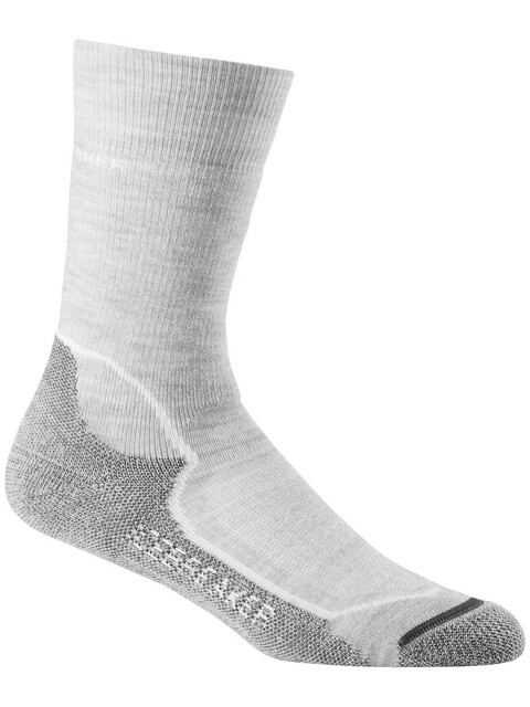 Icebreaker W's Hike+ Crew Socks Medium Blizzard HTHR/White/Oil